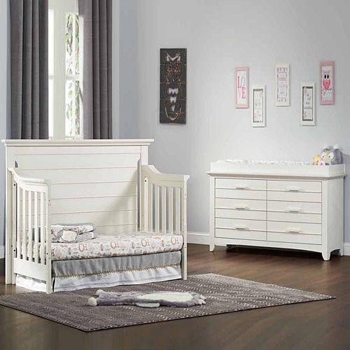 Olzo Baby Crestwood 2-PC Baby Furniture Set- Oyster White