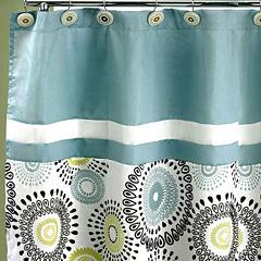 Suzanni Aqua Shower Curtain