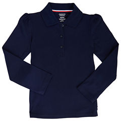 French Toast Long Sleeve Pique Polo - Big Kid Girls