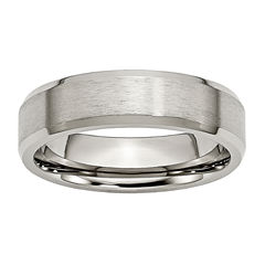 Personalized Mens 6mm Titanium Wedding Band