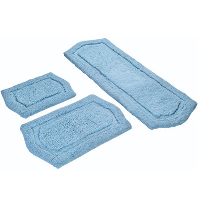 chesapeake paradise 3pc memory foam bath rug set