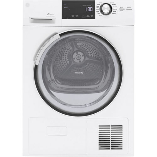 GE® 4.0 cu.ft. Stainless Steel Capacity 24 Ventless Condenser Frontload Electric Dryer