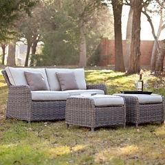 Rodanthe 3-pc. Outdoor Sofa and Ottoman Set