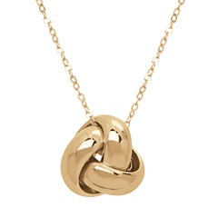 Infinite Gold™ 14K Yellow Gold Knot Pendant Necklace