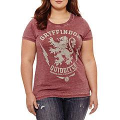 Short Sleeve Crew Neck Harry Potter T-Shirt-Womens Juniors Plus