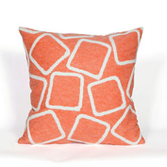 Liora Manne Visions I Squares Rectangular Outdoor Pillow