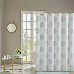 Madison Park Othello Clipped Lined Shower Curtain