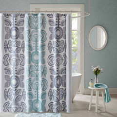 Urban Habitat Teo Cotton Shower Curtain