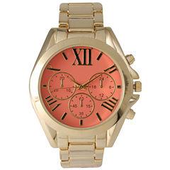 Olivia Pratt Mens Coral Dial Goldtone Bracelet Watch 14331Coral