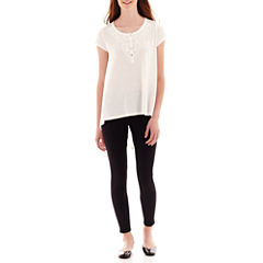 Olsenboye® Solid Knit High-Low Tunic or Textured Knit Pintock Leggings