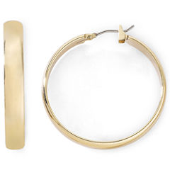 Monet® Gold-Tone Medium Hoop Earrings