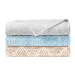 Madison Park Isabella Textured Ultra Plush Blanket