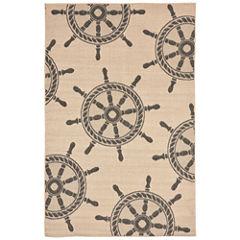 Liora Manne Terrace Shipwheel Rectangular Rugs