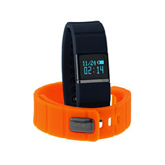 Ifitness Ifitness Activity Tracker Black/Navy And Orange Interchangeable Band Unisex Multicolor Strap Watch-Ift5419bk668-661