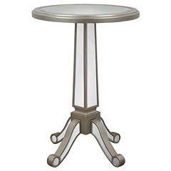 Decor Therapy Mirrored Pedestal Mirrored End Table