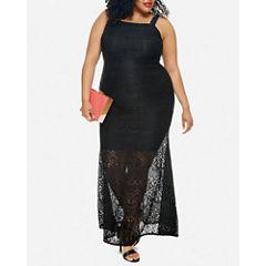 Fashion To Figure Lucia Sleeveless Lace Maxi Dress-Plus