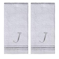 Saturday Knight 2-Pack J Monogram Hand Towel