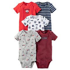 Carter's Little Baby Basics Boy 5-Pack Short Sleeve Bodysuits