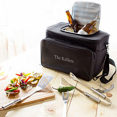 Personalized Tailgate Cooler with Grill Tool Set