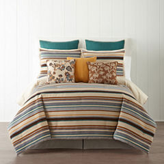 JCPenney Home™ Tapestry Stripe 4-pc. Comforter Set