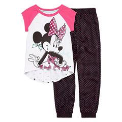 Disney® 2-pc. Minnie Short-Sleeve Tunic and Pants Set - Girls