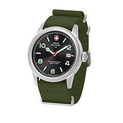 Swiss Military By Charmex Vintage Mens Green Strap Watch-78335_8_A