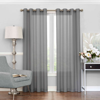 eclipse liberty grommettop sheer curtain panel