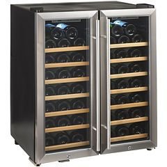 Wine Enthusiast® Silent 48-Bottle Dual-Zone Wine Cooler
