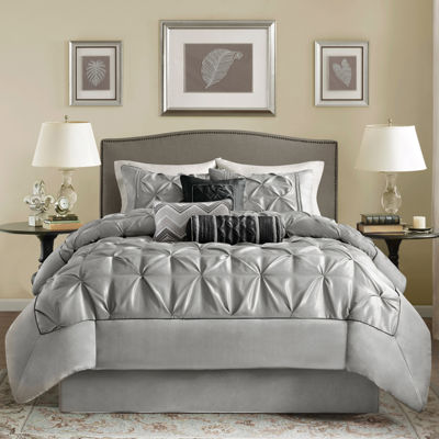 california king gray comforters u0026 bedding sets for bed u0026 bath jcpenney