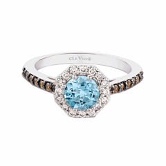 LIMITED QUANTITIES! Grand Sample Sale™ by Le Vian® 1/4 CT. T.W. Blue Aquamarine 14K Gold Cocktail Ring