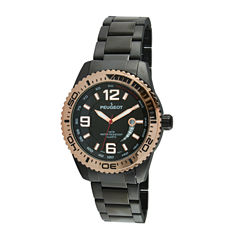 Peugeot Mens Black Bracelet Watch-1030bk