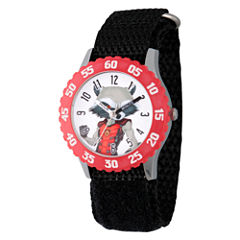 Guardian Of The Galaxy Marvel Boys Black Strap Watch-Wma000135