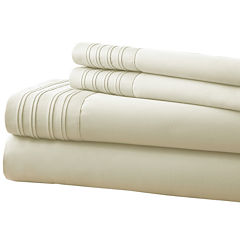 1000 Thread Count Cotton Blend Pleated Hem 4-pc. Sheet Set