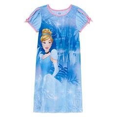 Disney Long Sleeve Cinderella Nightshirt-Big Kid Girls