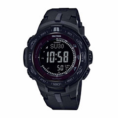 Casio Pro Trek Mens Black Strap Watch-Prw3100y-1b