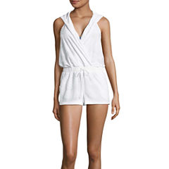 Social Angel Terry Cloth Swimsuit Cover-Up Shorts-Juniors