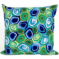 Liora Manne Visions Iii Murano Swirl Square Outdoor Pillow