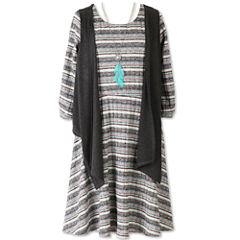 Speechless 3/4 Sleeve Fitted Sleeve Shift Dress - Big Kid Girls Plus