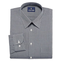 Stafford Travel Performance Super Shirt Long Sleeve Woven Gingham Dress Shirt