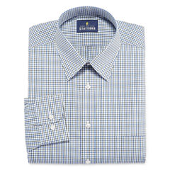 Stafford Travel Performance Super Shirt Long Sleeve Woven Grid Dress Shirt