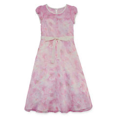 Lavender By Us Angels Flower Girl Dresses Short Sleeve Party Dress
