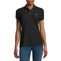 Us Polo Assn. Quick Dry Short Sleeve Knit Polo Shirt