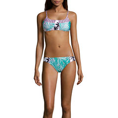 Social Angel Leaf Triangle Swimsuit Top or Hipster Bottom-Juniors