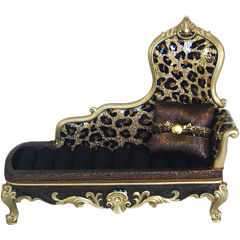 Leopard-Print Sofa Jewelry Box