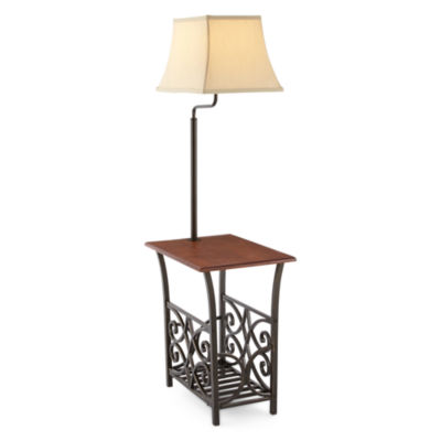 Luxury JCPenney Home Magazine Rack Table with Lamp