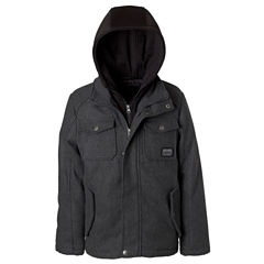 Wool Jacket with Fleece Hood - Boys