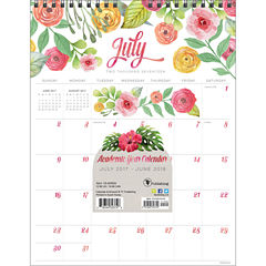 Academic Year July 2017 - June 2018 2018 AcademicYear Wall Calendar