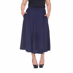White Mark Tasmin Flared Skirt-Plus
