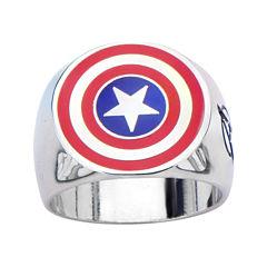 Marvel Captain America Shield Mens Stainless Steel Ring