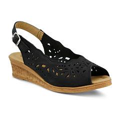 Spring Step Orella Slingback Wedge Sandals